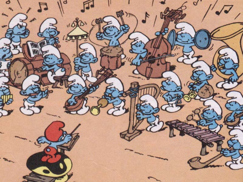 Les personnages musiciens - Schtroumpf musicien ...